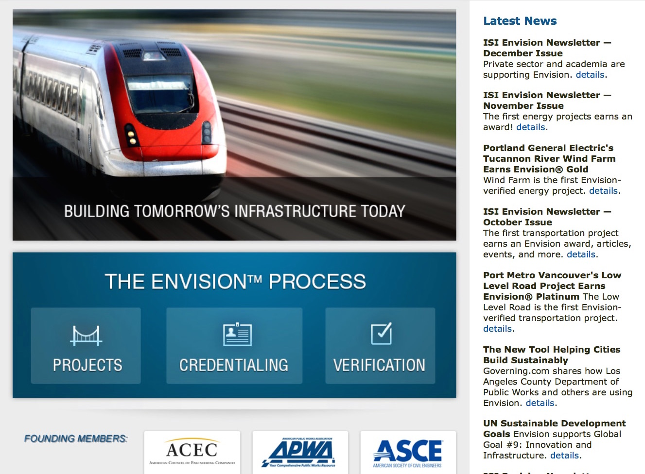 Envision® Sustainable Infrastructure Rating System