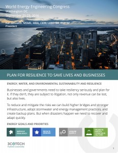 Plan for Resilience to Save Lives and Businesses - front page