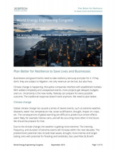 Plan for Resilience to Save Lives and Businesses - paper AEE WEEC front page