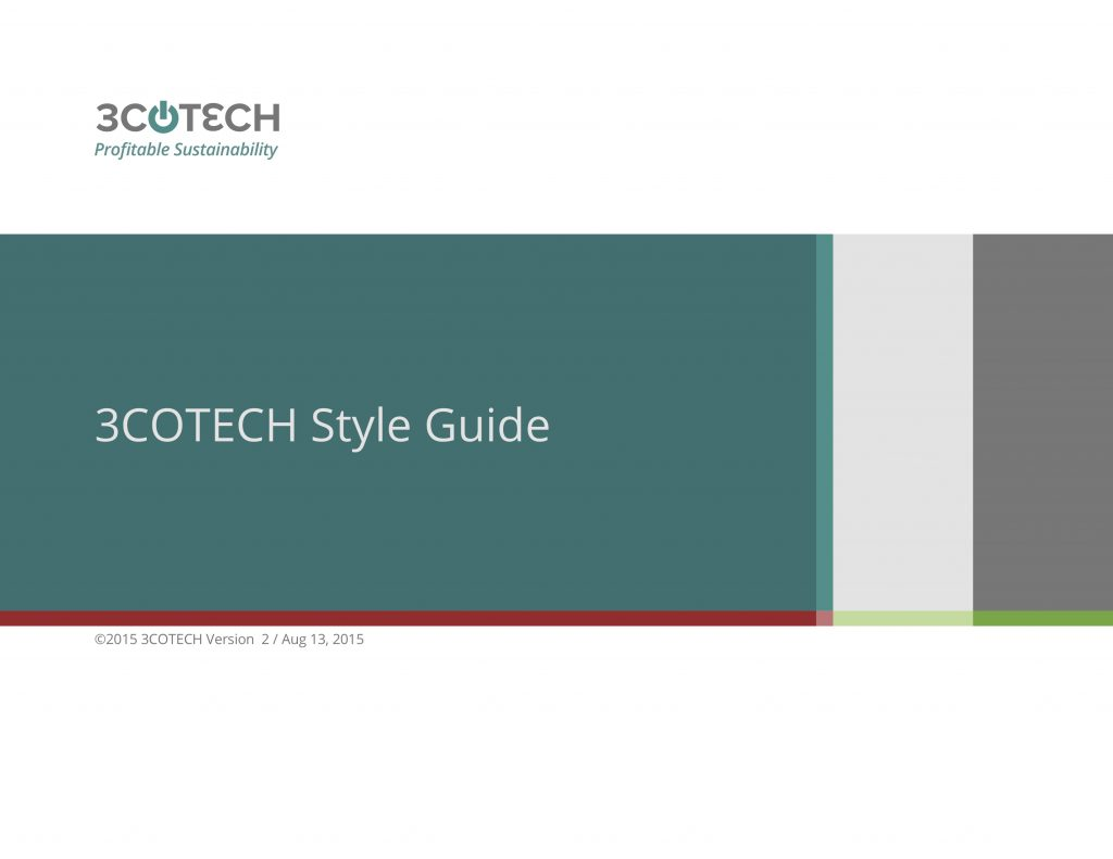 3COTECH Style Guide - Brand Book
