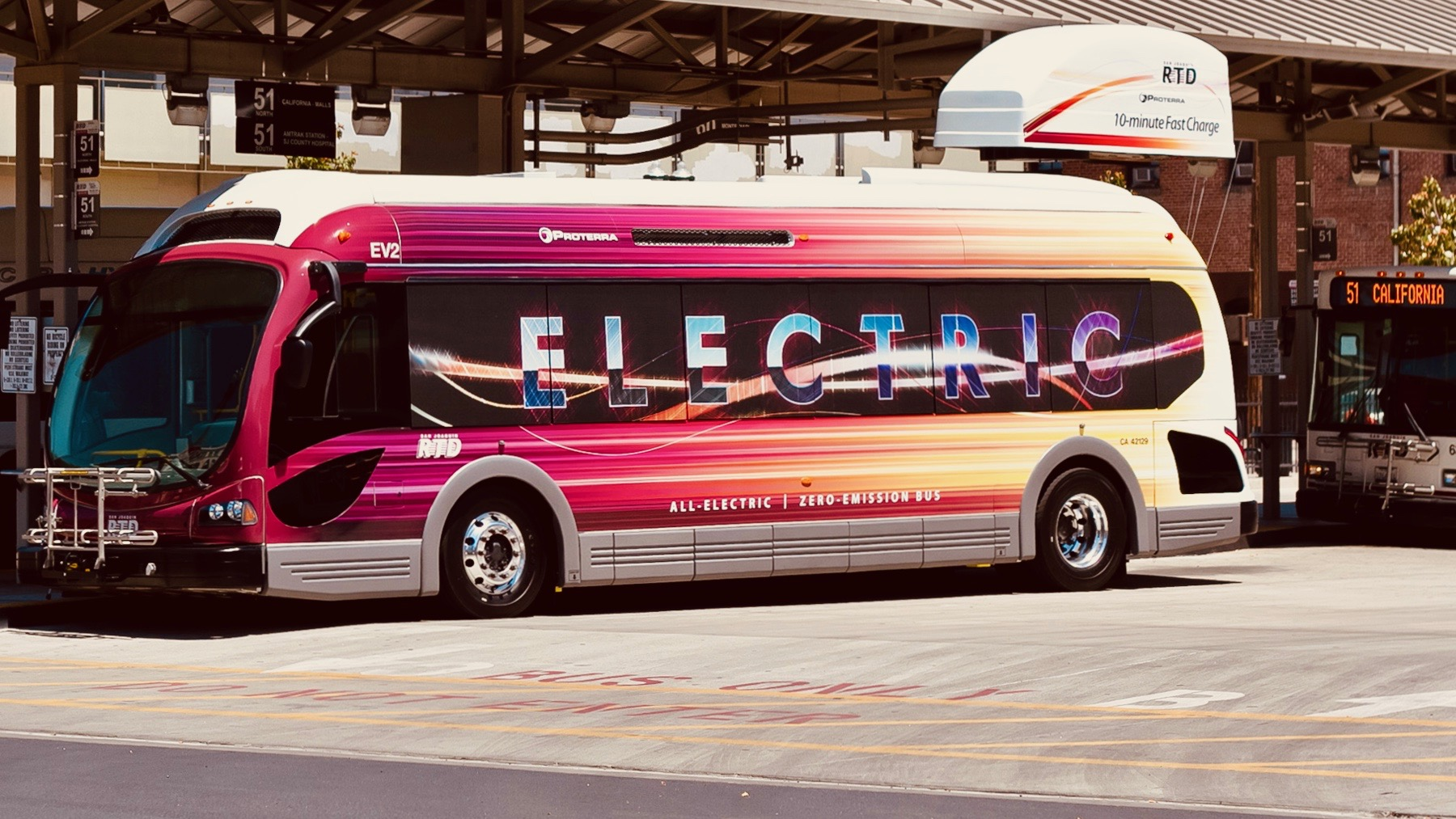 Proterra Electric Bus at Charging Station